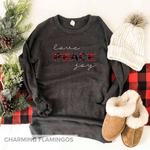 Love, Peace ✌🏻, Joy Raglan Sweater