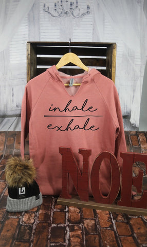 Inhale - Exhale Open Neck Sweatshirt