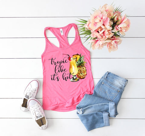 Tropic Like It's Hot Tank 🍍 🍹