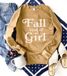Fall Kind Of Girl Fleece Sweatshirt Camel