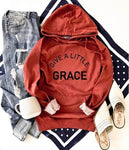 GIVE A LITTLE GRACE HOODIE BURNT ORANGE