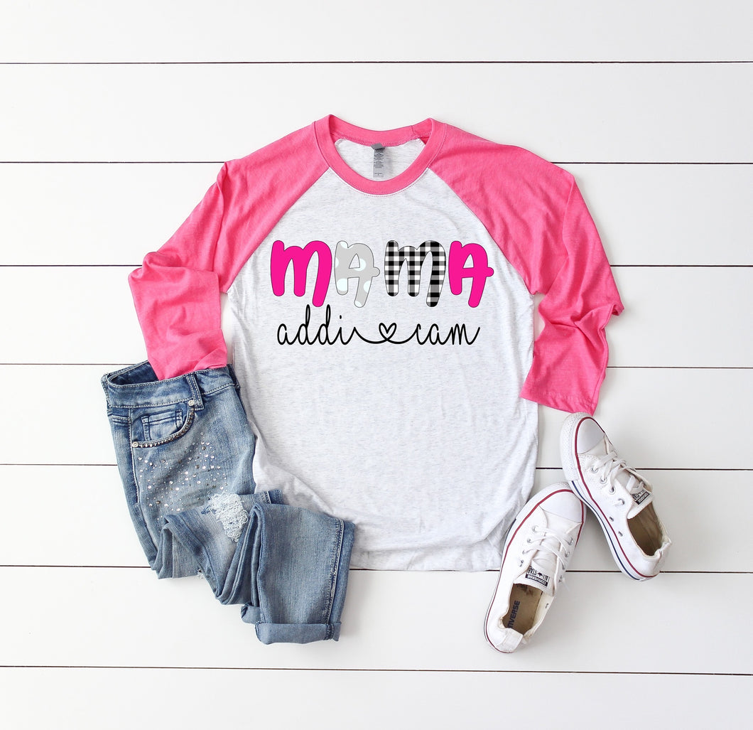 Mama Raglan Customized