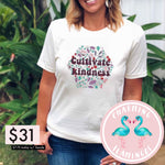 Cultivate Kindness Floral White Graphic Tee