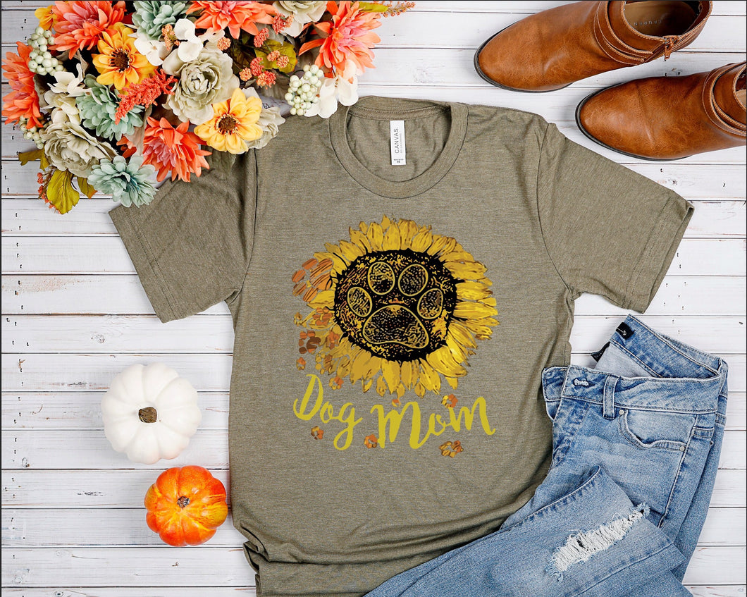 Dog Mom sunflower 🌻 tee 🐶
