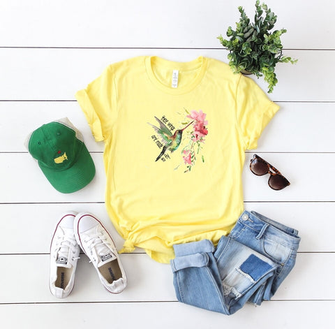 Watercolor Hummingbird Graphic Tee