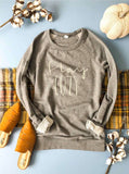 Stay Cozy Raglan Sweater - Olive