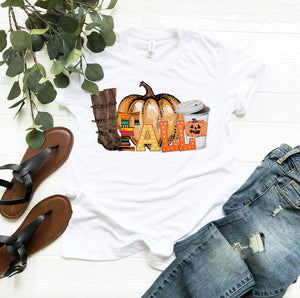 Fall Light Up Letter Design Graphic Tee