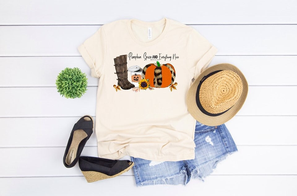 Pumpkin Spice & Everything Nice Graphic Tee