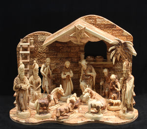 Nativity Set with Christmas Music