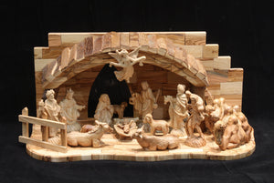 Nativity Set with Many Animals