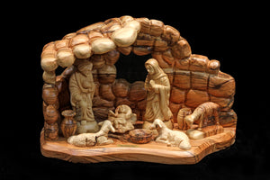 Nativity Family in Rocklike Cave