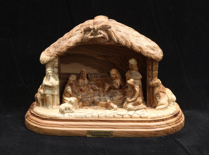Nativity Set - Carved from One Piece of Wood