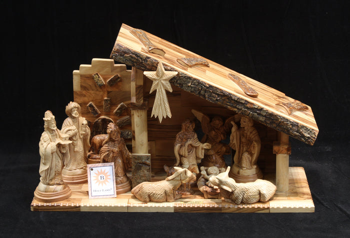 Nativity Set with Angel