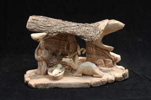 Natural Nativity Set - Modern Figures