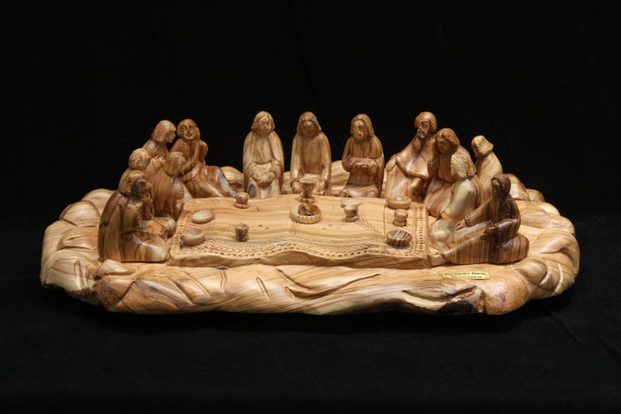The Last Supper with Sitting Figures - Oval Base