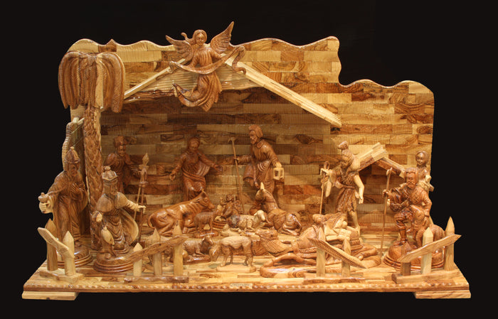 Nativity Set with Angel & Sheep - Large Church Display