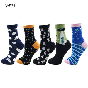 Women's 5pk Colorful Fruit & Fun Crew Sock Sets (4 sets available)
