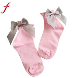 Women's Cotton Anklet With Ribbon Bow