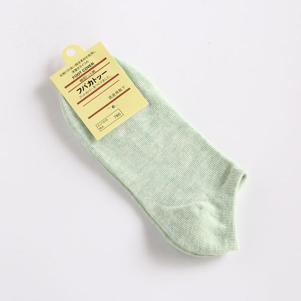 Women's Thin Casual Ankle Socks, 10 Pairs