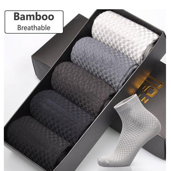 Men's Bamboo Antibacterial Ankle Dress Socks
