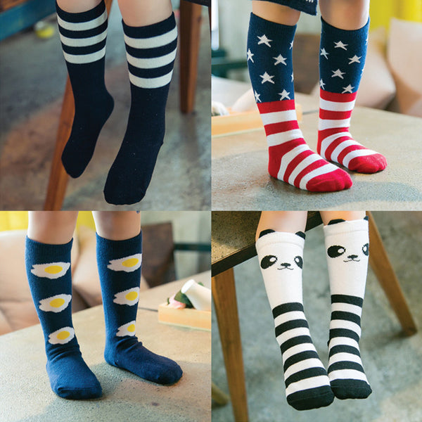 Kids Soft Cotton Cartoon Pattern Socks