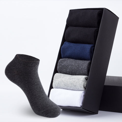 Men's 6pk Cotton Ankle Socks