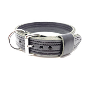 Leather-dog-collar-latigo-heavy-duty-k9-canine-working-dog-brown-black-stainless-steel-agitation