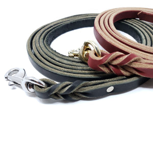 "Leather Training Lead 1/2"" wide"