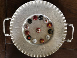 Upcycled celebration platter for entertaining this summer with friends around the bbq!