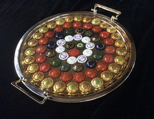 Champagne cap tray perfect for wedding toast or display glasses and wine