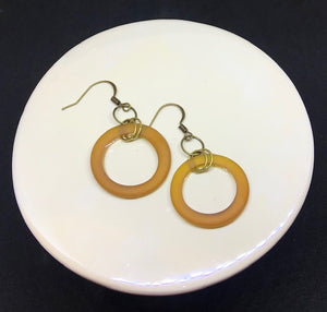 Beer Bottle Ring Earrings