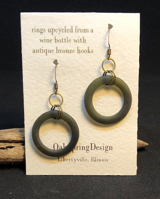 Wine Bottle Rings Earrings