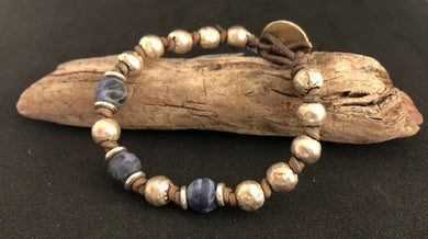 Sodalite & African Silver Knotlet