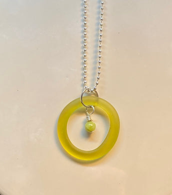 August Peridot Birthstone Pendant
