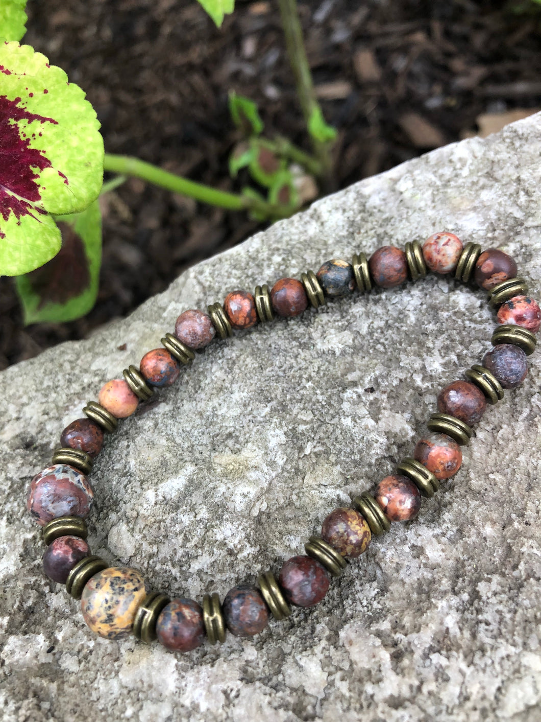 Dragon's Blood Jasper Semi-Precious Stone Bracelet