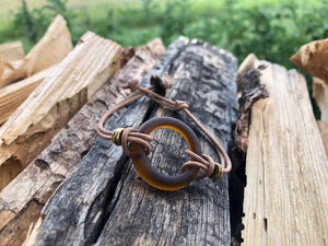 Upcycled Beer Bottle Ring Bracelet