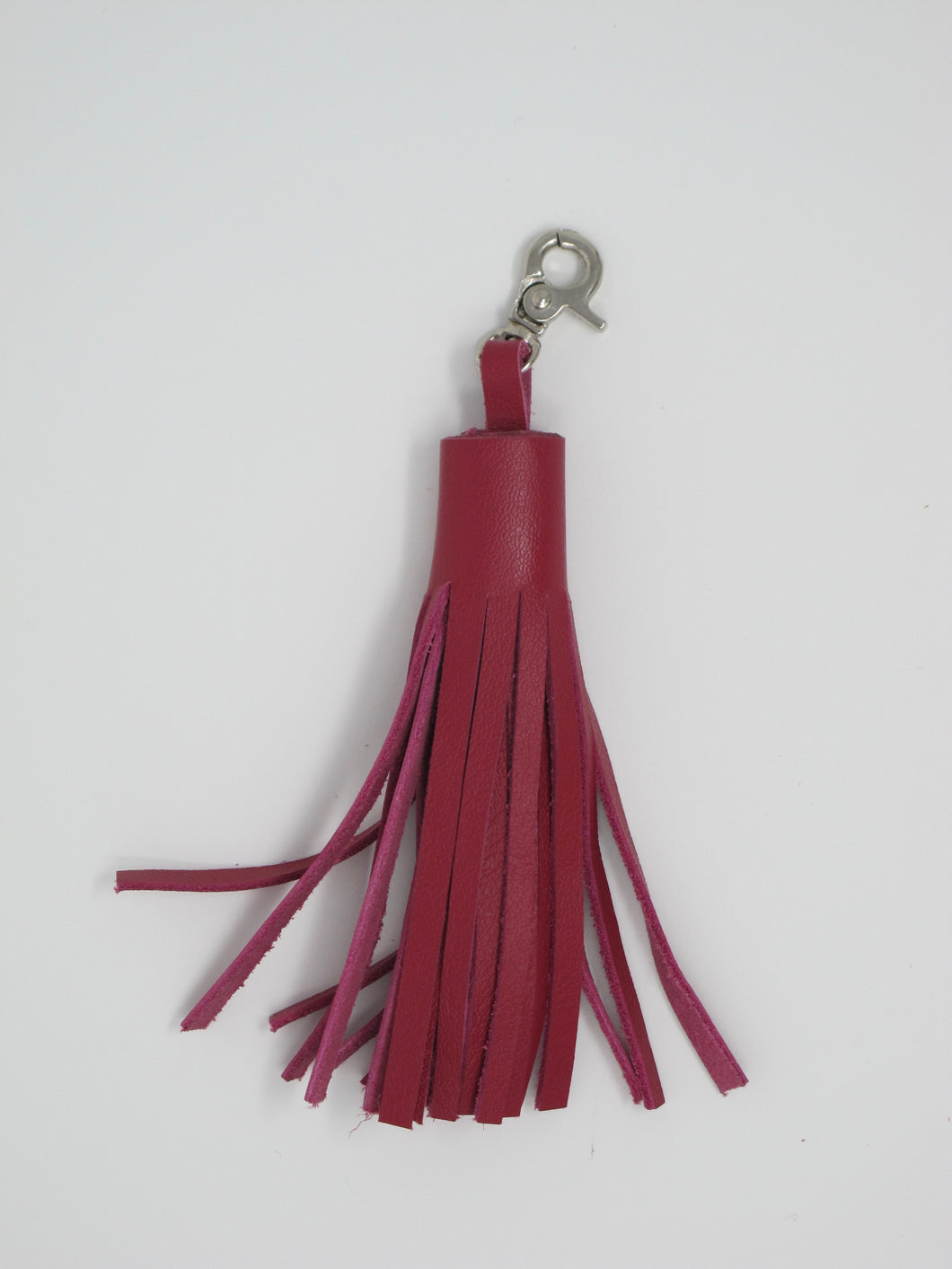 Leather Pom Pom (with clasp)