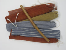 Bamboo Straw & Organic Cotton Bag
