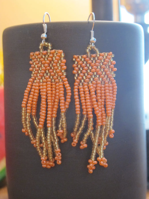 Beaded X Earring