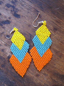 Beaded Tri Earring