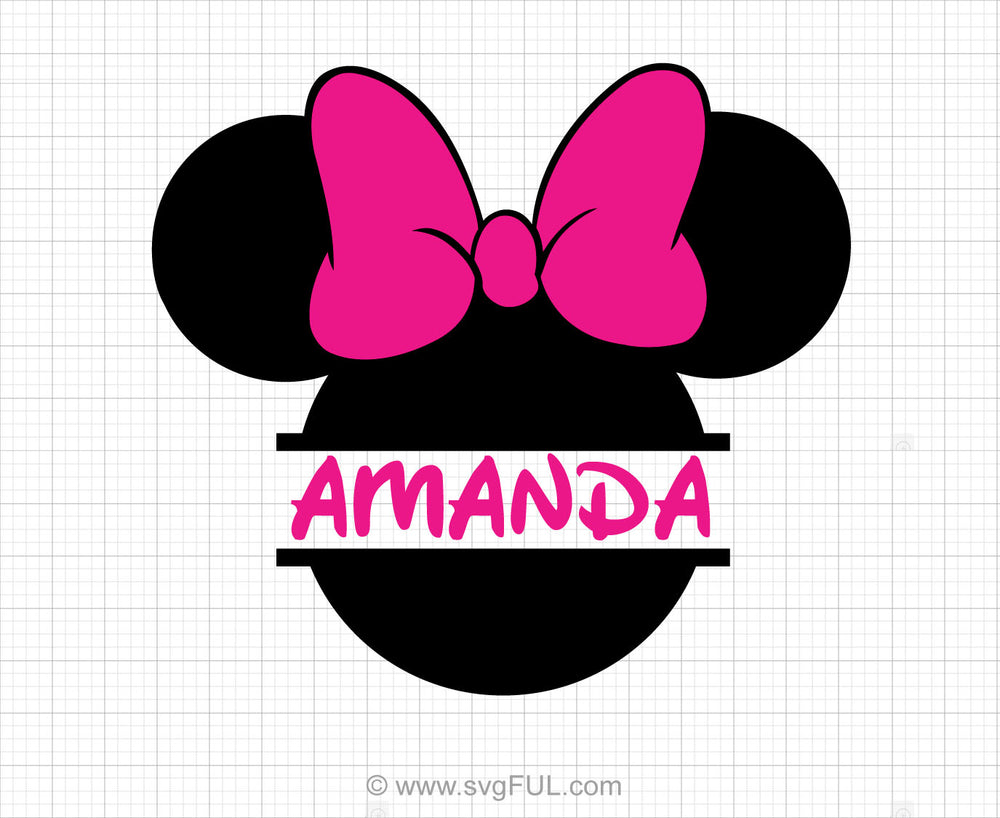 Minnie Mouse Monogram Svg Clipart