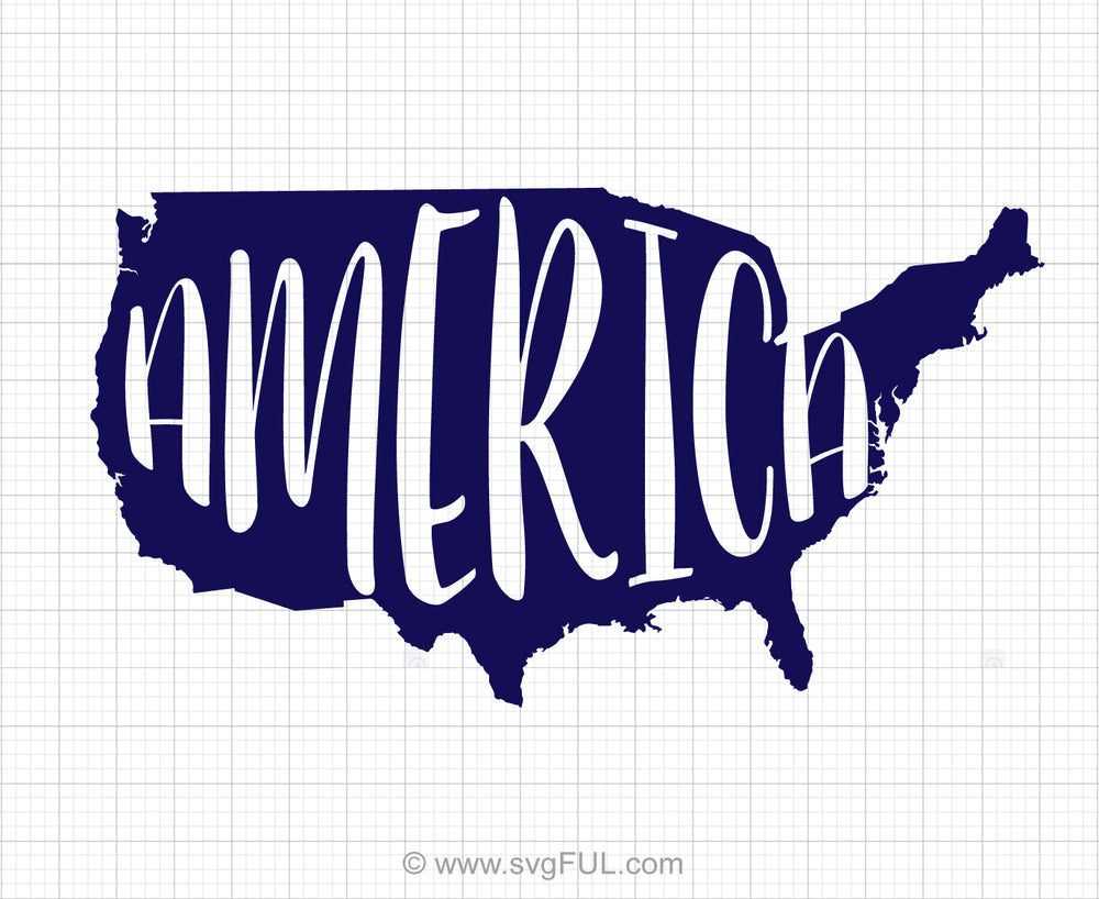 America Map Svg Clipart