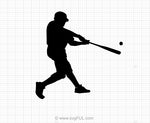 Free Baseball Player SVG Clipart