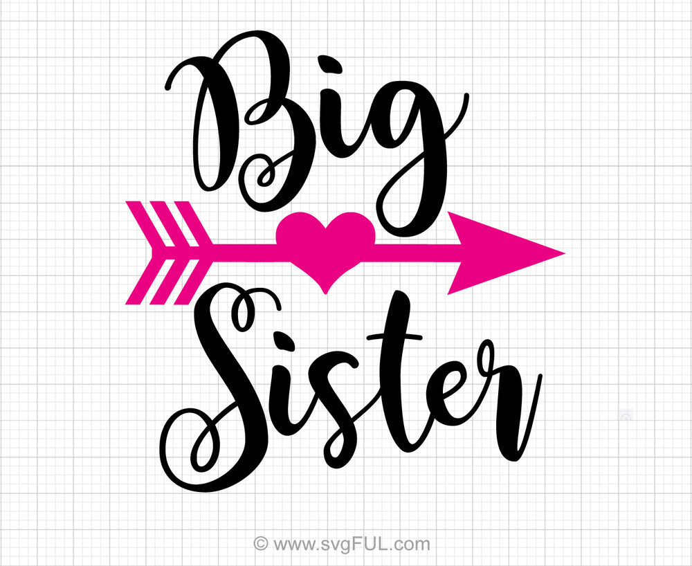 Big Sister Svg Saying