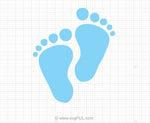 Baby Feet Svg Clipart