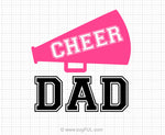 Cheer Dad Svg Saying