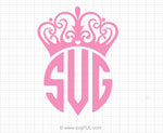 Crown Tiara Monogram Svg Clipart