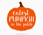 Cutest Pumpkin In The Patch Halloweenn Svg Clip Art