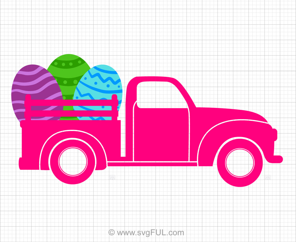 Easter Truck Svg Clipart
