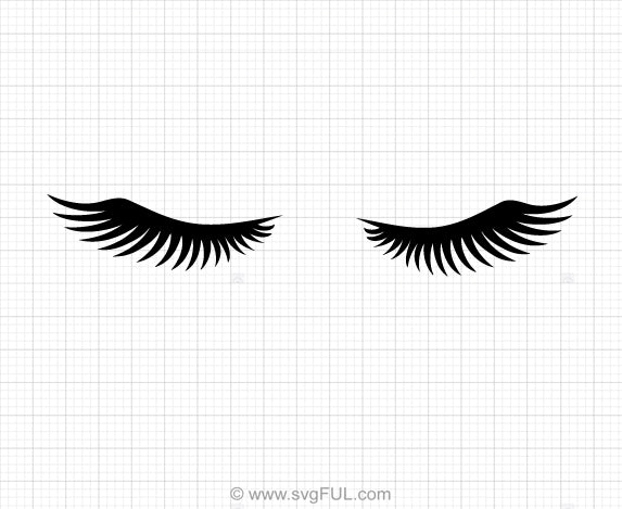 Eyelashes Svg Clipart